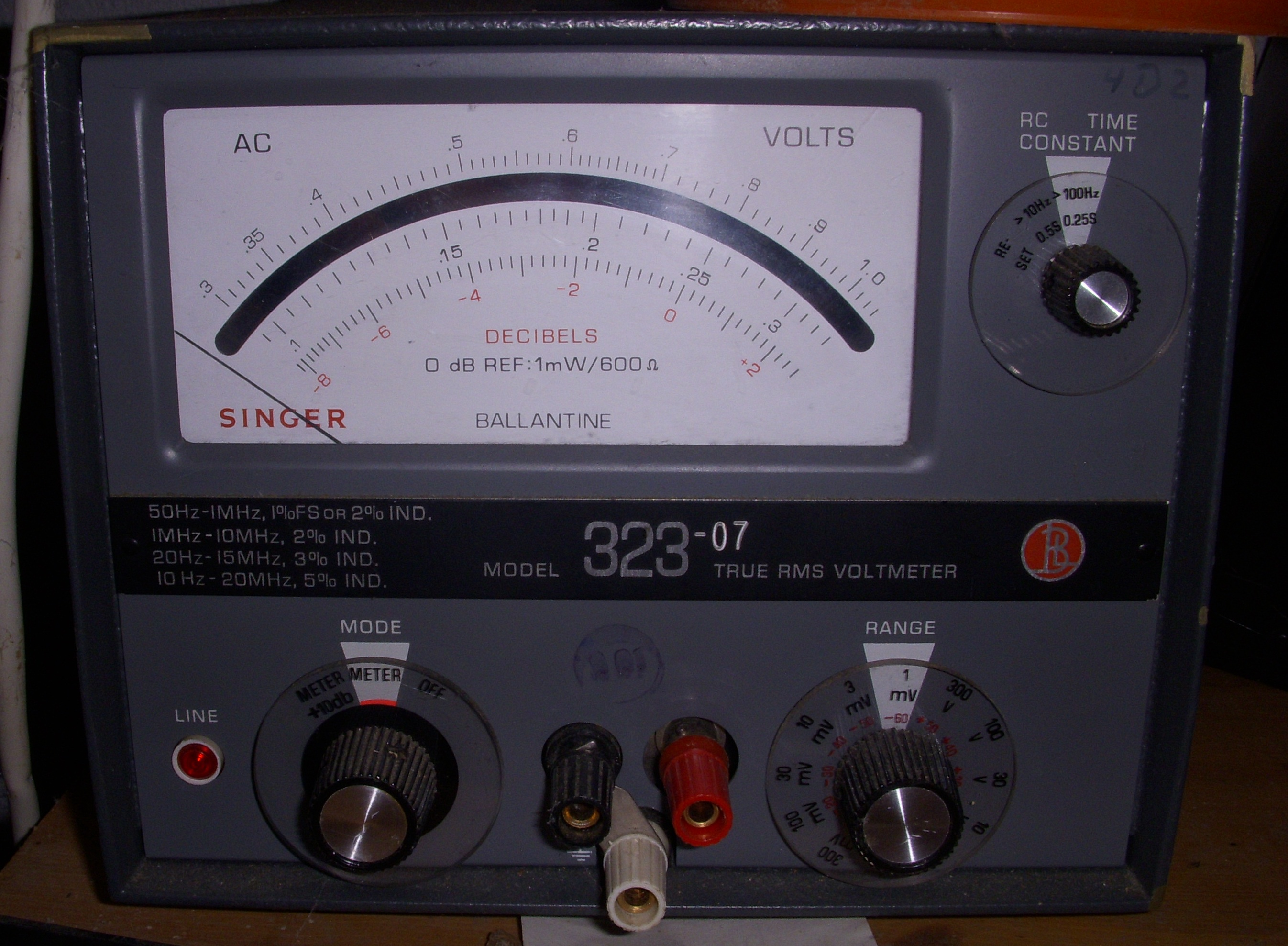 Measurement Apparatus Rf Millivoltmeter Ballantine 323 High Frequency